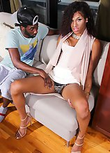 Gorgeous Mariah Island is a stunning black tgirl with an amazing slim body, natural tits, a hot ass and a delicious rock hard cock! Watch as she gets