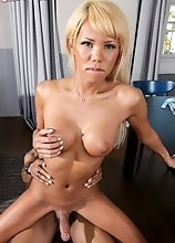 Japanese superstar Miran giving Soldier Boi a sexy blowjob before he fucks her lovely ass!