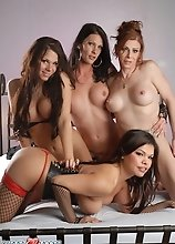Irresistible Carmen Moore in a crazy TS 4-way orgy
