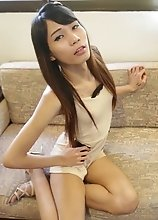Skinny Thai Ladyboy with natural tits can't get enough white cock