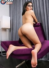 Watch Julissa as she strips down, shows off her perfect body and then strokes her cock until she cums in this smashing solo scene!