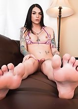 Watch shemale superstar Chelsea Marie playing with her toys and stroking her cock until she cums!