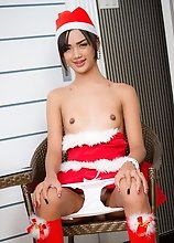 Small Tits Ladyboy Dream - Christmas Fingering and Toying Ass